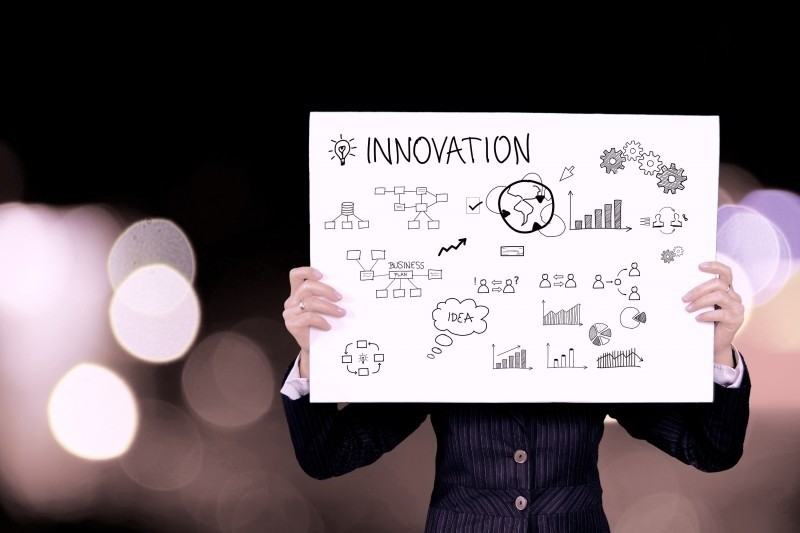 Tableau blanc processus d'innovation